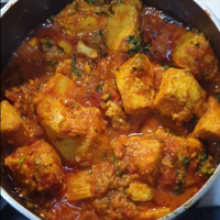 Homemade boneless chicken curry